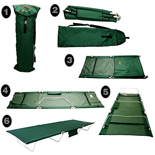 Byer of Maine TriLite Cot by, Lightweight, Easy Setup, Packs Away into Travel Bag, Single