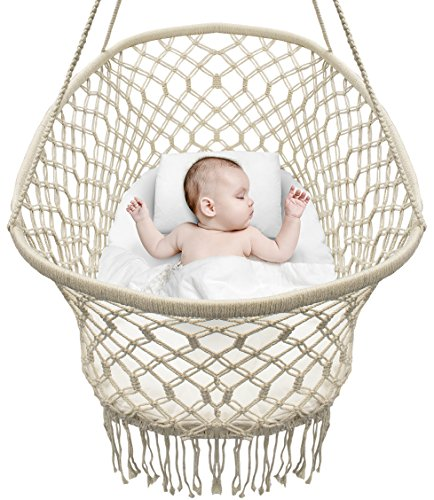 Baby Crib Cradle, Hanging Bassinet and Portable Swing for Baby Nursery
