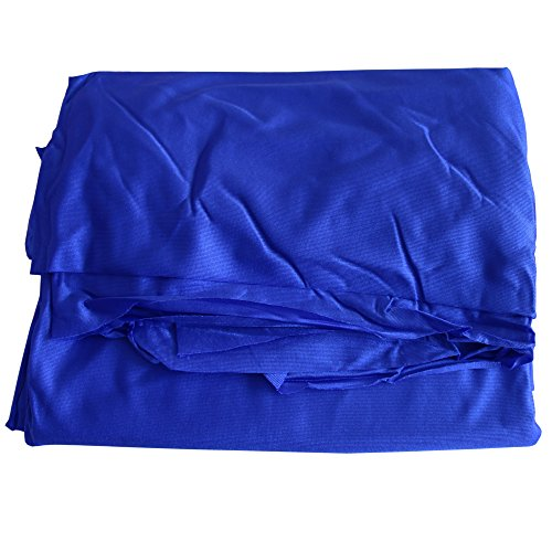 Wellsem Deluxe L:5.5 Yards W:3 Yard Yoga Flying Swing Aerial Yoga Hammock Silk Fabric for Yoga Bodybuilding(5mx2.8m) (Deep Blue)