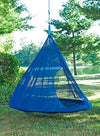 Flower House FHTDDKB Teardrop Hanging Hammock Chair, Dark Blue