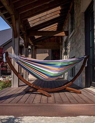 Vivere Solid Pine Wood Hammock Combo