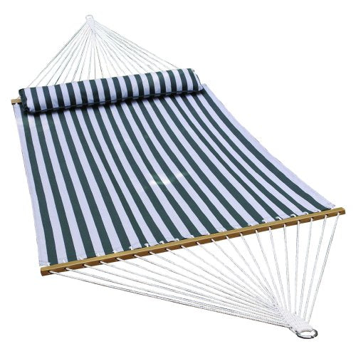 ALGOMA Hammock, 13-Feet, Green/White Stripe