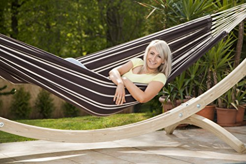 Barbados Single Brazilian Hammock: Mocha