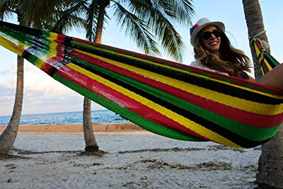 XAMAN Hammock - Handmade by Mayan Artisans (Fair Trade) - Multicolor - 100% Nylon - Double Woven Thread
