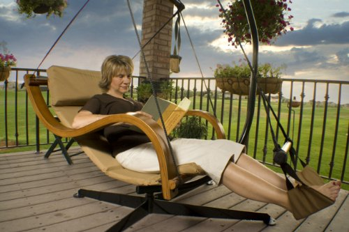 Hanging Chair Stand In Black
