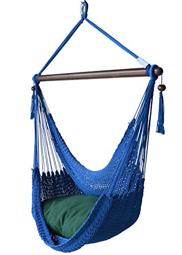 Caribbean Hammocks Chair with Footrest: Dark Blue