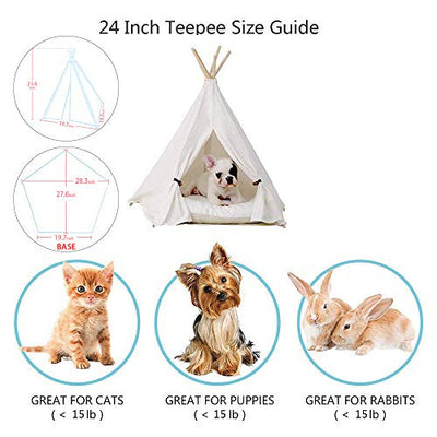 Little Dove Portable Pet Tent for Dog and Cat- Beige