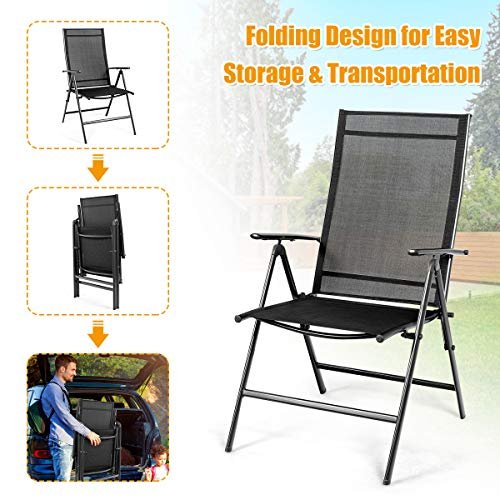 Giantex 2 Piece Patio Folding Chairs