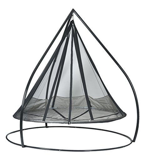 Flowerhouse FlyingSaucer Hanging Lounge with Stand Includes Bird and Bug Net FHFSSVR-SET