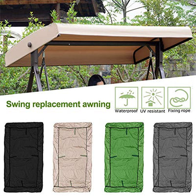 Outdoor Swing Canopy, Replacement Canopy for Swing Seat