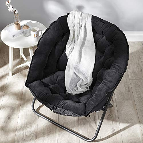 Papasan Moon Chair - Black
