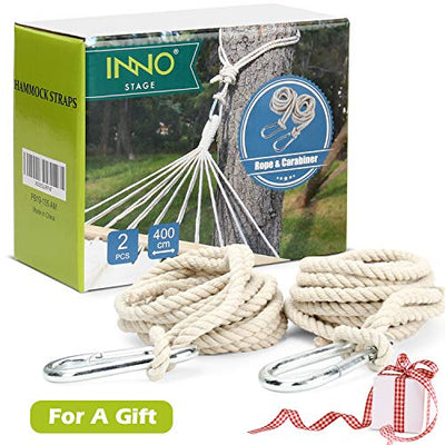 2 Tree Swing Hanging Straps Cotton Hammock Rope