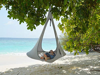 White One Person Songo Hanging Chair with Hanging Hardware