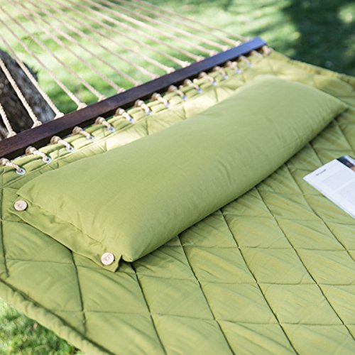 Quilted 2-person Outdoor Bed Hammock with Head Pillow