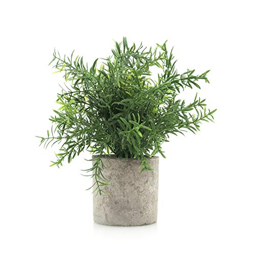 Velener Mini Potted Plastic Fake Green Plant: Bamboo Leaves