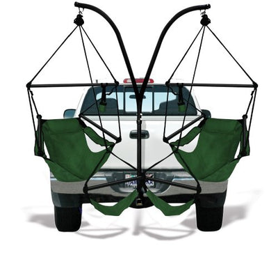 Hammaka Hammocks Trailer Hitch Stand with Aluminum Dowel Hammock Chairs Combo