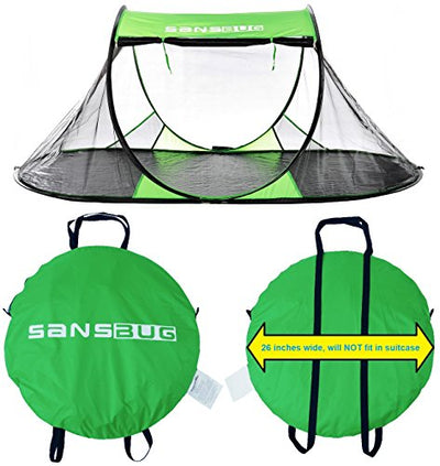 SANSBUG 1 Person Free-Standing Pop Up Mosquito Net : Tarp Floor