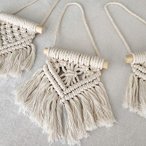 Mkono Mini Macrame Wall Hanging Set of 3