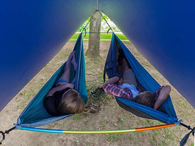 ENO, Eagles Nest Outfitters Fuse Tandem Hammock System, Retro Tri