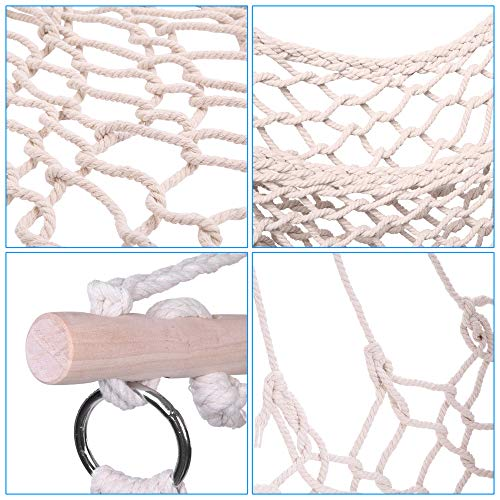 Teeker Cotton Hanging Rope Hammock Chair