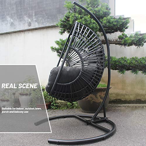 Lawn Furniture Outdoor Hanging Egg Chair Rattan Wicker Hammock Basket Swing Chair