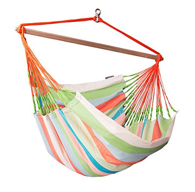 Lounger Swing Hammock Chair with Spruce Stand: Domingo Coral