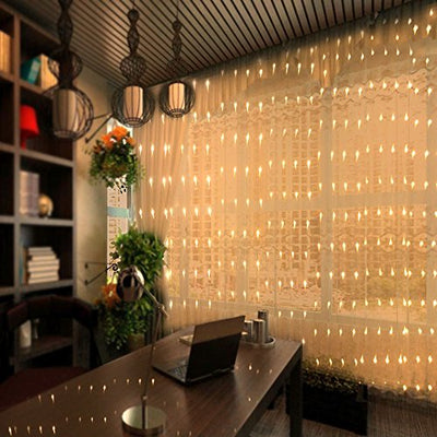 300 LED Fairy Curtain Window String Lights