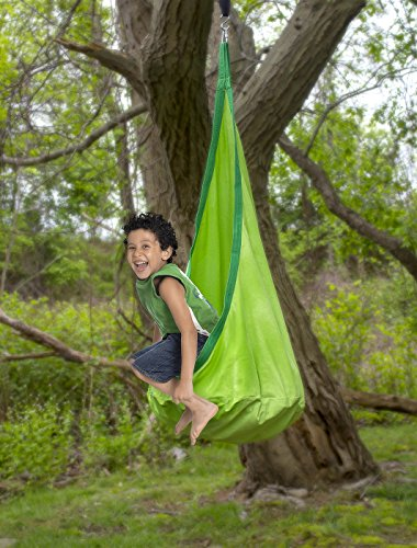 Astounding Sorbus Kids Child Pod Swing Chair Green Camellatalisay Diy Chair Ideas Camellatalisaycom