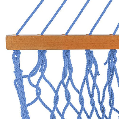 Pawleys Island Large Duracord Rope Hammock: Coastal Blue