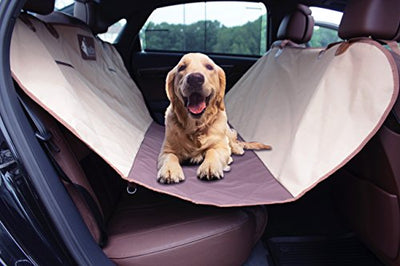 Pet Dog Seat Cover + Bungee Elastic Shock Absorbing Safety Seat Belt + Travel Bag By Petter – Non slip, Waterproof Material, Cover & Hammock – Bench Protector for Cars, SUV, Truck Backseat