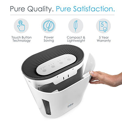 3-in-1 True HEPA Air Purifie with Whisper-Quiet Operation and Auto Off Timer