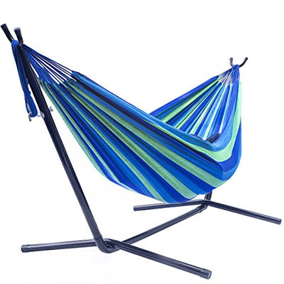 Double Hammock with Steel Stand