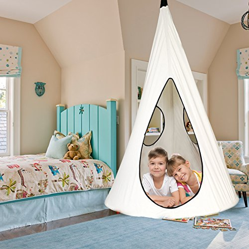 Kids Nest Hammock Swing Tree Tent: White