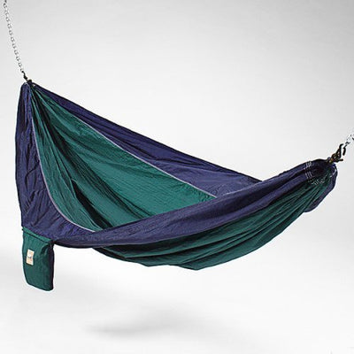 Hammaka Blue Parachute Hammock Hitch Stand with 2 Cradle Chairs Green Parach