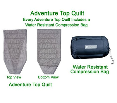 Go Outfitters Adventure Top Quilt, The Sleeping Un-Bag and Hammock Camping Top Quilt