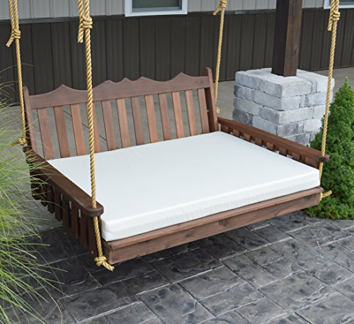 Aspen Tree Interiors Swing Bed, 5' Hanging Bed Swing Outdoor Swinging Daybed