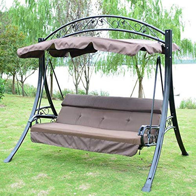 Garden Patio Swing with Canopy Heavy Duty Outdoor Chair
