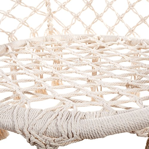 Hammock Chair Hanging Rope Swing: Beige