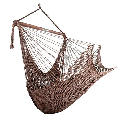 Bathonly Large Caribbean Rope Hammock Hanging Chair