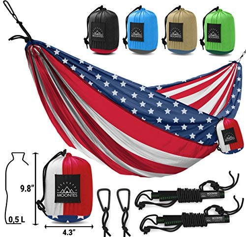USA Flag Double Camping Hammock