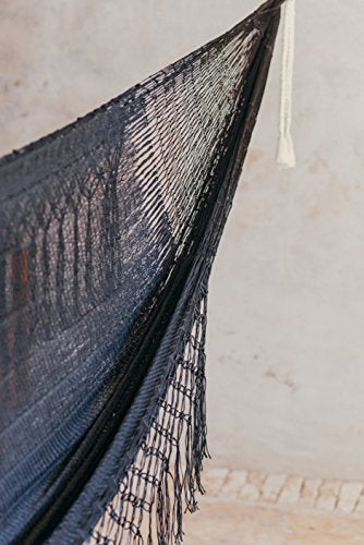 PALENQUE (MACRAME) Hammock - Handmade by Mayan Artisans (Fair Trade) - Multicolor - 100% Nylon - Double Woven Thread