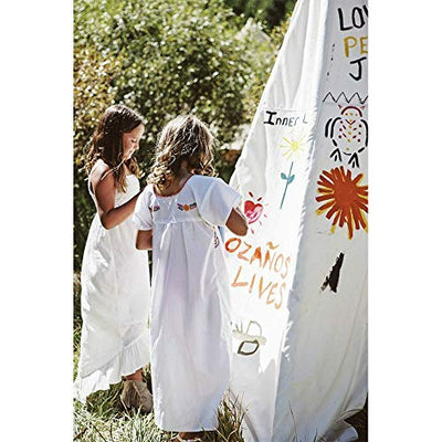 little dove Kids Foldable Teepee Play Tent with Carry Case