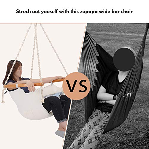 Hanging Cotton Rope Hammock Swing Chair for Indoor Outdoor Use