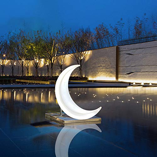 Hanging Chair with Light, Leisure LED Luminous Moon Swing Chair Hammock Remote Control Color Adjustment Waterproof Outdoor Garden Landscape Chair