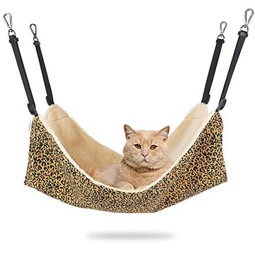 Cat Hammock for Cage, Soft Pet Bed Fit Ferret, Kitten, Puppy, Small Dog, Adjustable-Strap