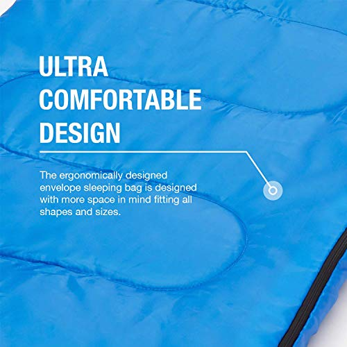 Active Era Sleeping Bag for Indoor and Outdoor Use - Lightweight Premium Sleeping Bags for Adults, Kids and Teens - Warm and Water Resistant for Camping, Hiking and Backpacking