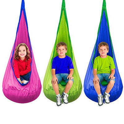 Sorbus Kids Child Pod Swing Chair: Green