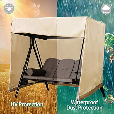 Patio Swing Chair Cover 3 Triple Seater Outdoor Hammock Cover