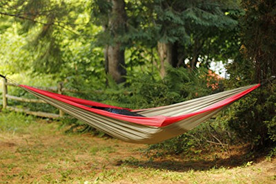Easy Traveller Hammock Red: Breathable Parachute Nylon