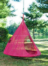 Flower House FHTDRD Teardrop Hanging Hammock Chair, Red